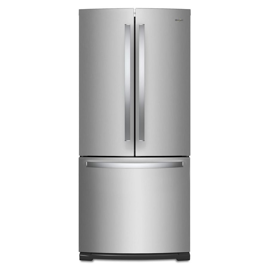 Whirlpool 19.6-cu Ft French Door Refrigerator With Ice