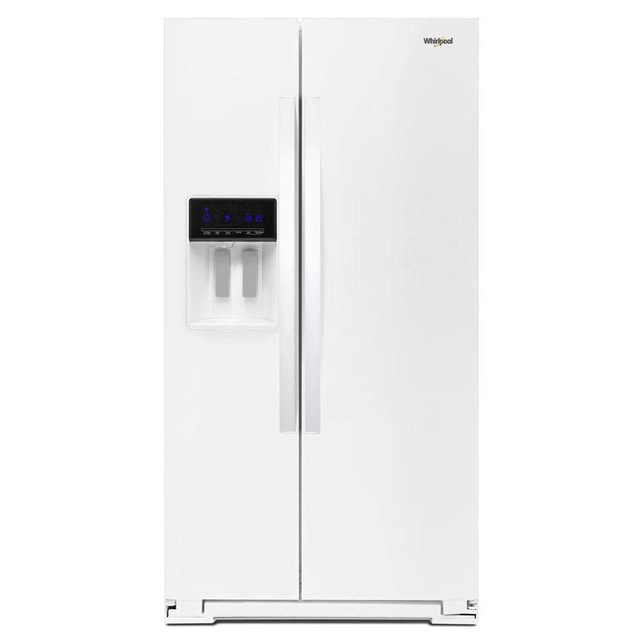 Whirlpool 20.6-cu ft Counter-Depth Side-by-Side Refrigerator with Ice Maker (White)