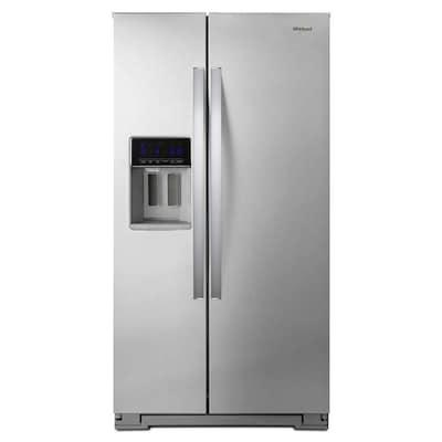Whirlpool 20.6-cu ft Counter-depth Side-by-Side Refrigerator with Ice Maker (Fingerprint-Resistant Stainless Steel)