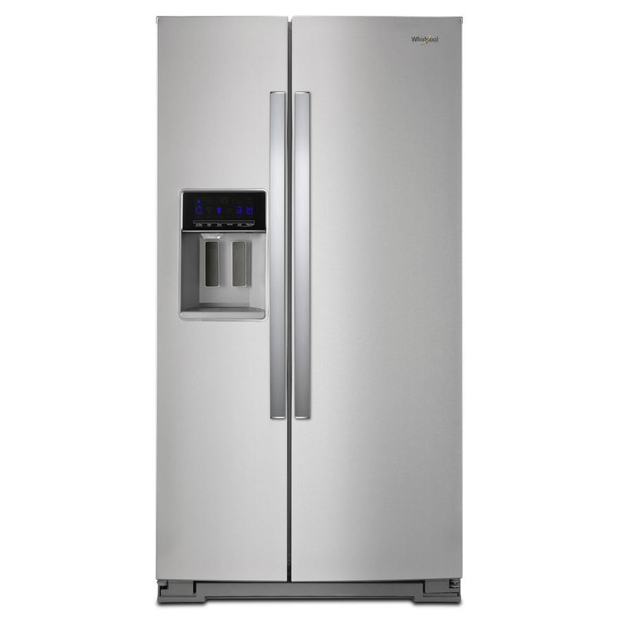 Whirlpool 28.4-cu ft Side-by-Side Refrigerator with Single Ice Maker (Fingerprint-Resistant Stainless Steel)