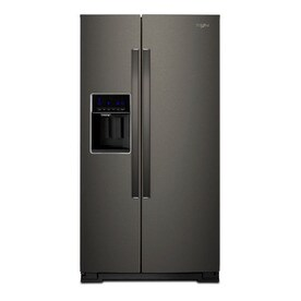 Whirlpool Kitchen Suite Shop whirlpool black stainless kitchen suite at lowes whirlpool 284 cu ft side by side refrigerator with ice maker fingerprint workwithnaturefo