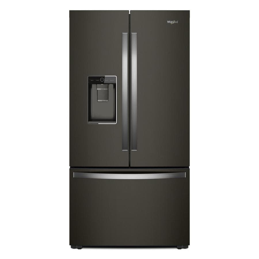 Shop Kitchenaid 23 8 Cu Ft Counter Depth French Door: Shop Whirlpool 23.8-cu Ft 3-Door Counter-Depth French Door Refrigerator With Ice Maker