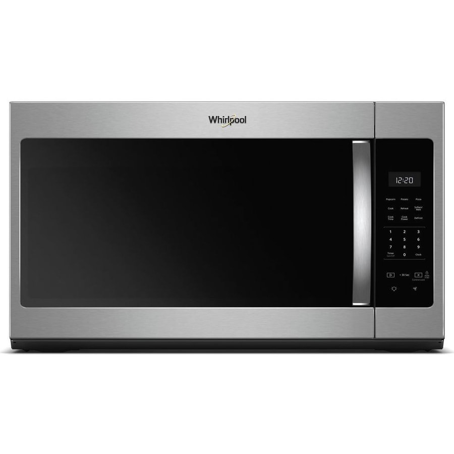 Whirlpool 1.7-cu ft Over-the-Range Microwave (Fingerprint-Resistant Stainless Steel) (Common: 30-in; Actual: 29.938-in)