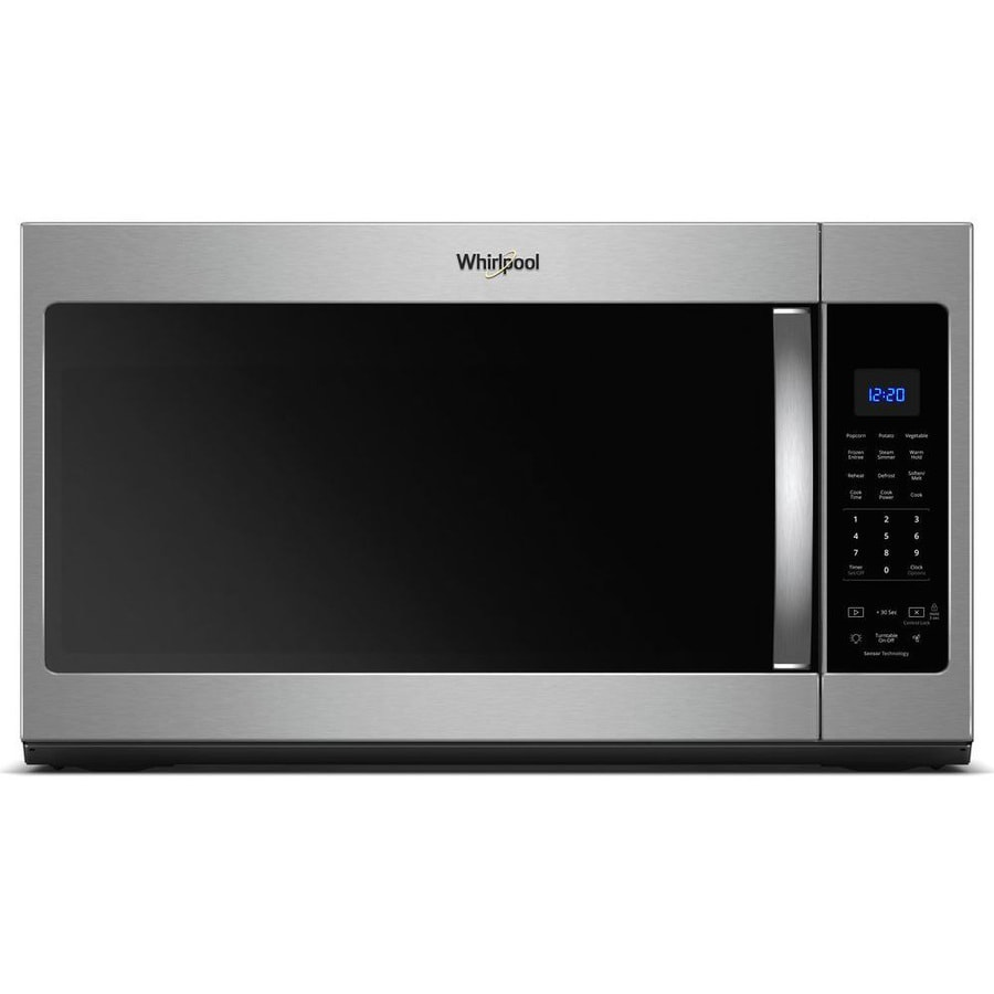Whirlpool 1.9-cu ft Over-the-Range Microwave with Sensor Cooking Controls (Fingerprint-Resistant Stainless Steel) (Common: 30-in; Actual: 29.938-in)