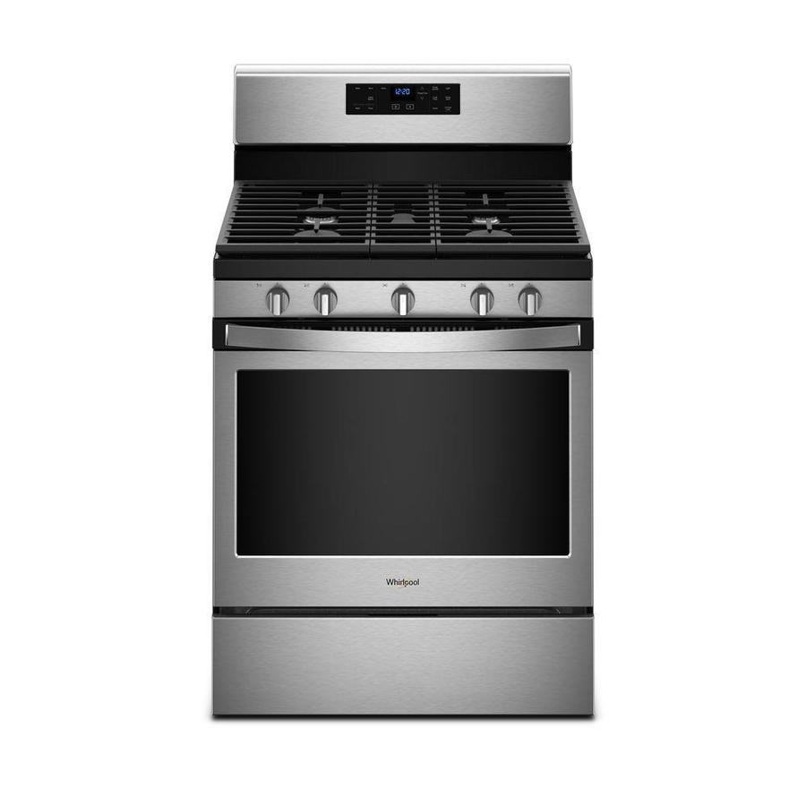 Shop Whirlpool 5-Burner Freestanding 5-cu ft Self-cleaning Gas Range ...