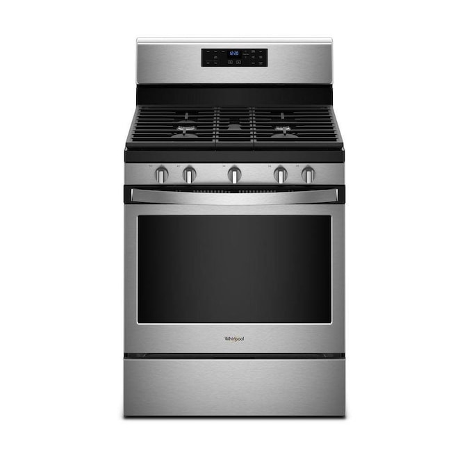 Whirlpool 5 Burners 5 Cu Ft Self Cleaning Freestanding Gas Range Fingerprint Resistant Stainless Steel Common 30 In Actual 29 875 In In The Single Oven Gas Ranges Department At Lowes Com