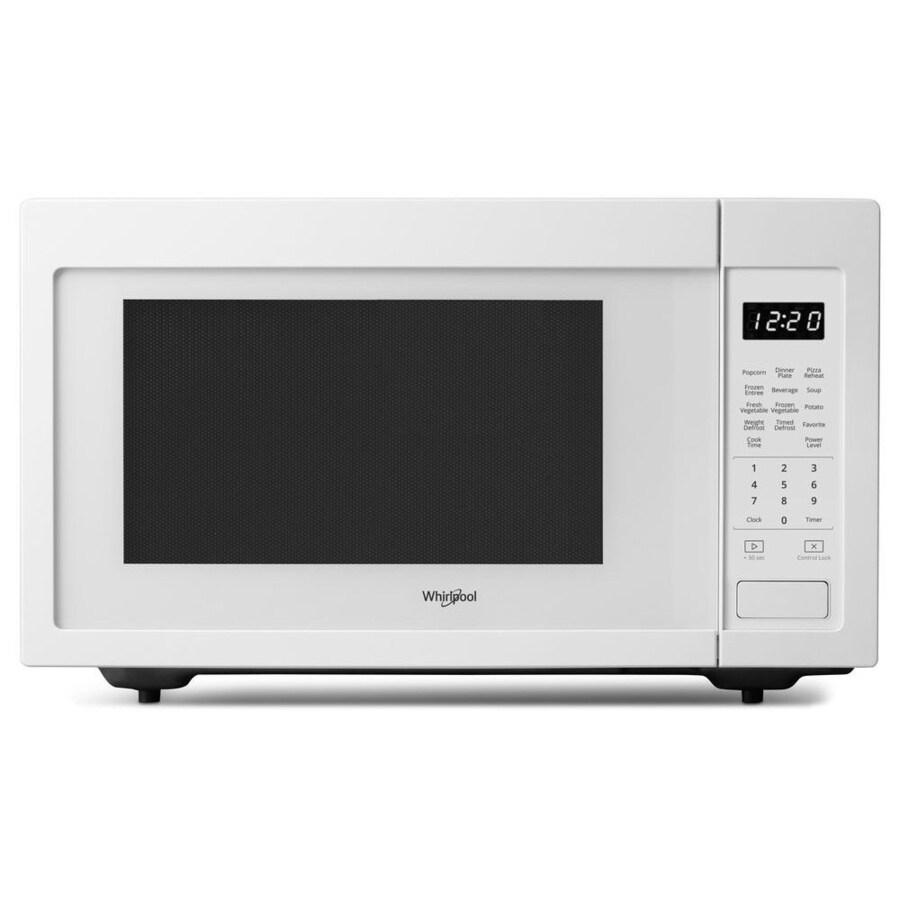 Whirlpool 1.6-cu ft 1200-Watt Countertop Microwave (White)