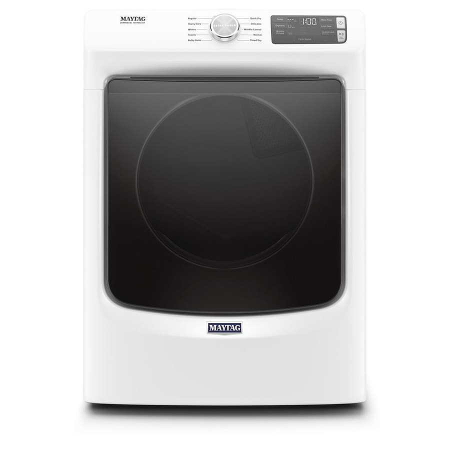 Maytag 7 3 Cu Ft Stackable Electric Dryer White Energy