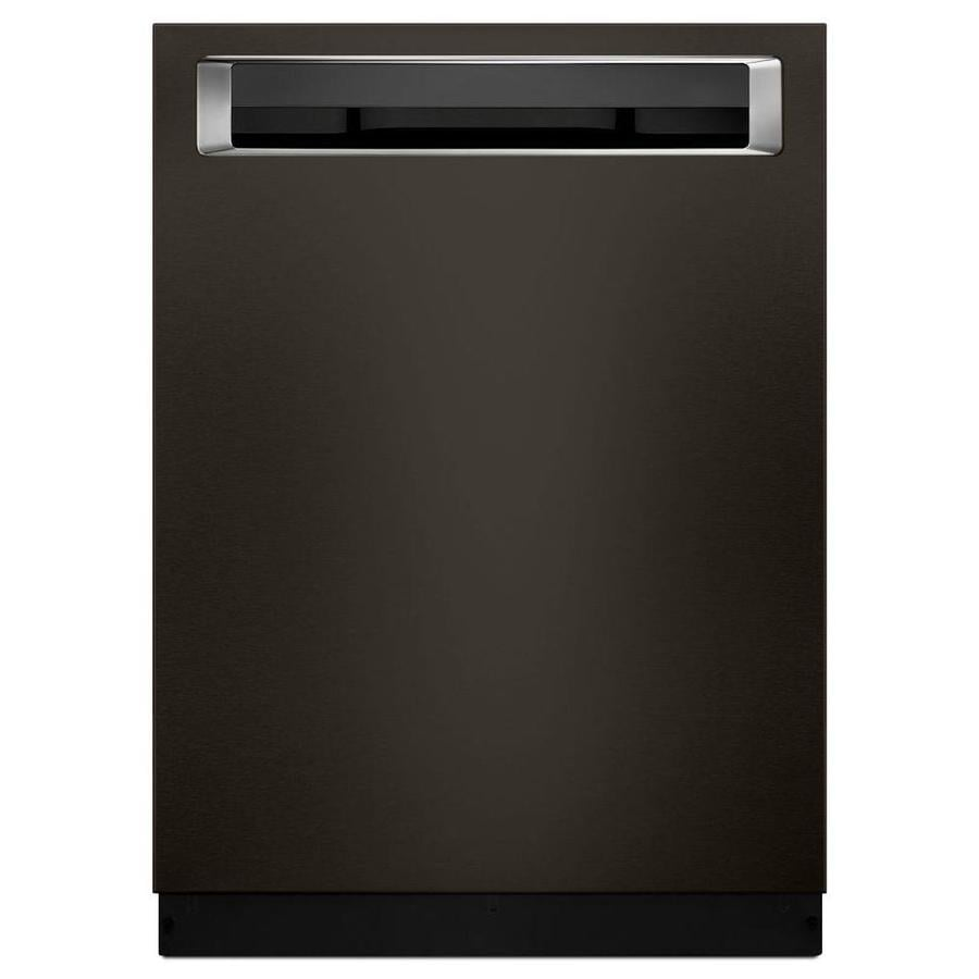 KitchenAid 39-Decibel Built-In Dishwasher with Bottle Wash (Fingerprint-Resistant Black Stainless) (Common: 24-in; Actual: 23.875-in) ENERGY STAR