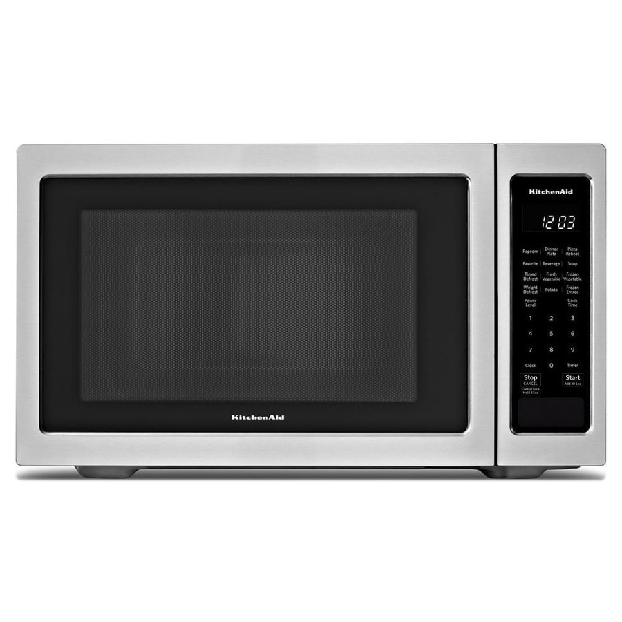 Kitchenaid 1 6 Cu Ft 1200 Watt Countertop Microwave Stainless Steel