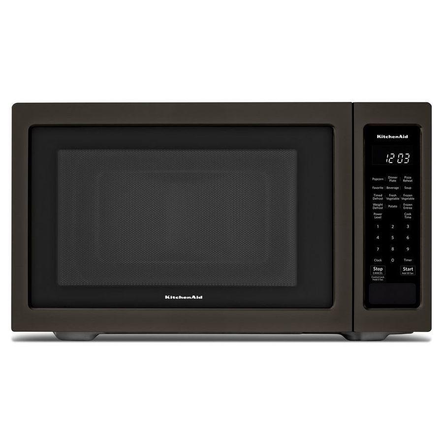 KitchenAid 1.6-cu ft 1200-Watt Countertop Microwave (Black Stainess)