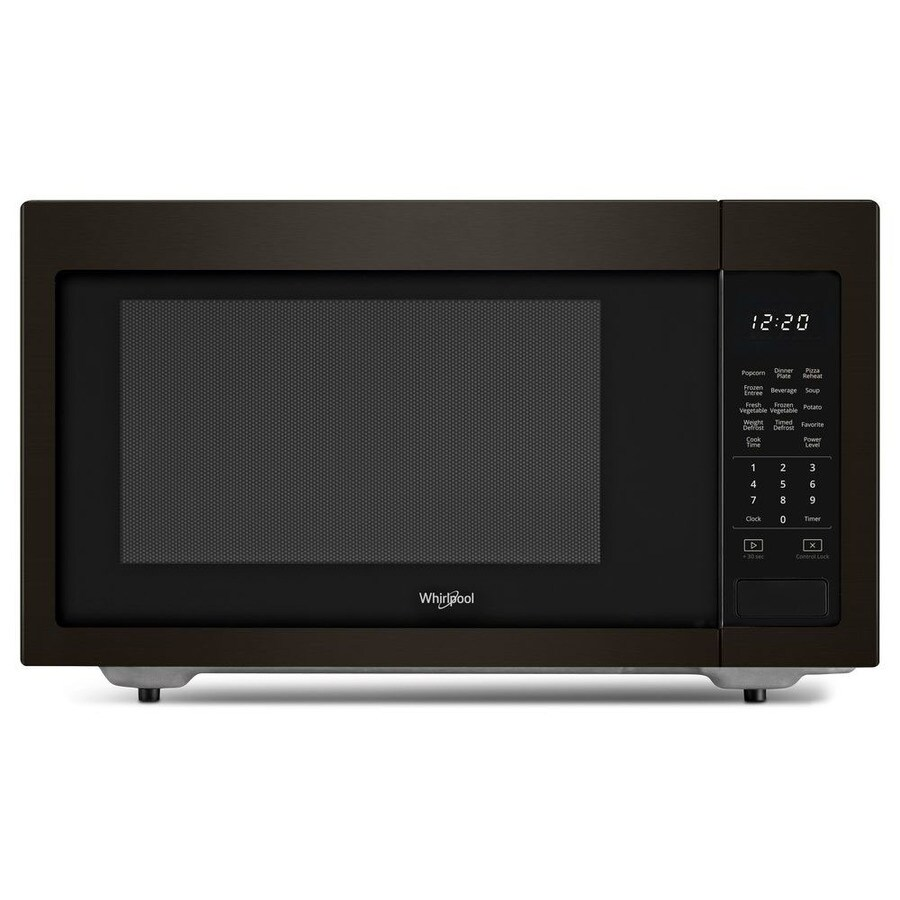 Whirlpool 1.6-cu ft 1200-Watt Countertop Microwave (Black Stainless)