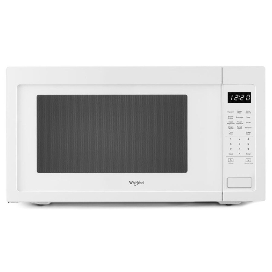 Whirlpool 2 2 Cu Ft 1200 Watt Countertop Microwave White In The Countertop Microwaves Department At Lowes Com