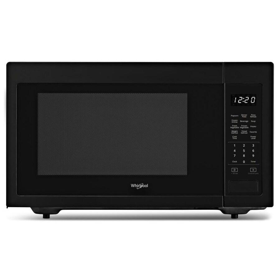 Whirlpool 2 2 Cu Ft 1200 Watt Countertop Microwave Black In The Countertop Microwaves Department At Lowes Com