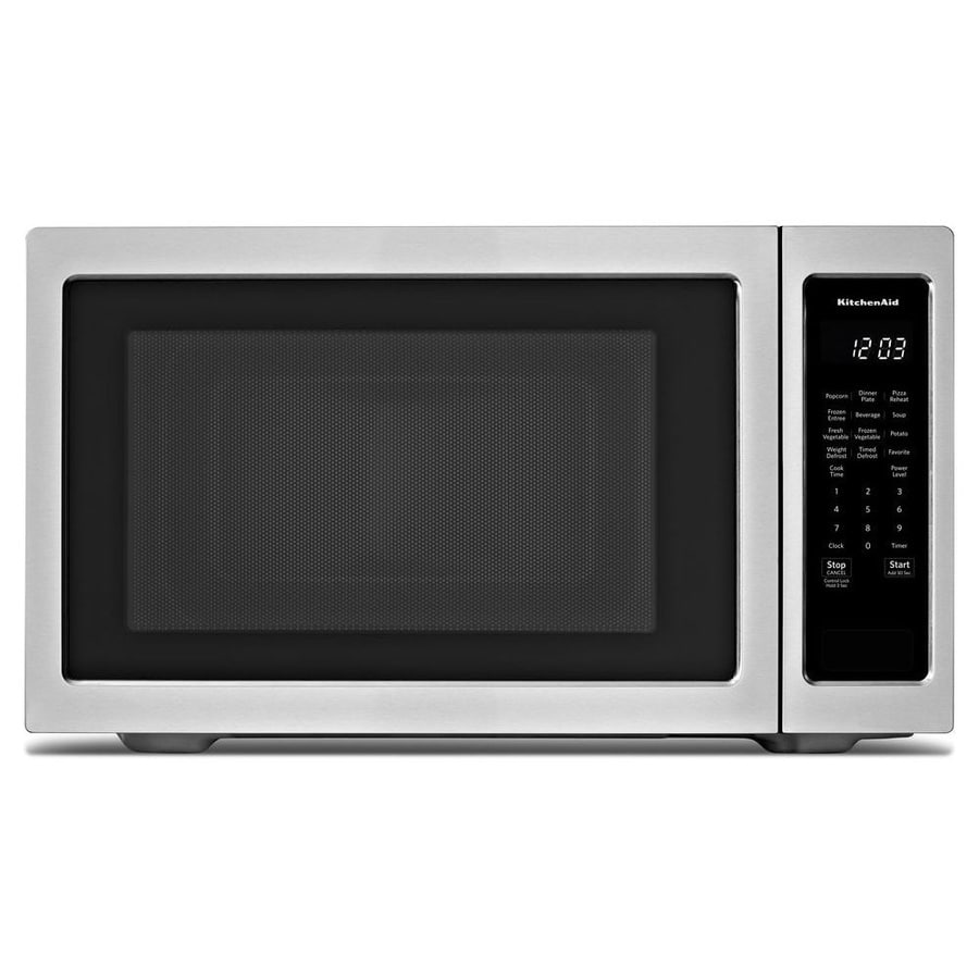 Kitchenaid 2 Cu Ft 1200 Watt Countertop Microwave Stainless Steel