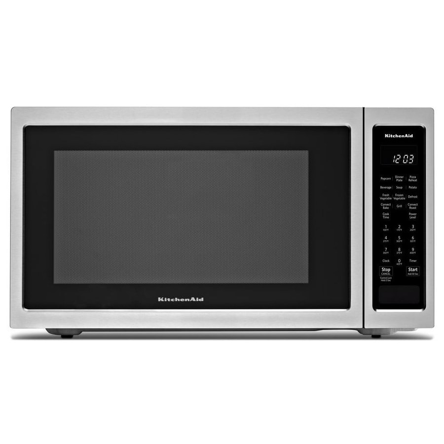 Kitchenaid 1 5 Cu Ft 1400 Watt Countertop Convection Microwave Stainless Steel
