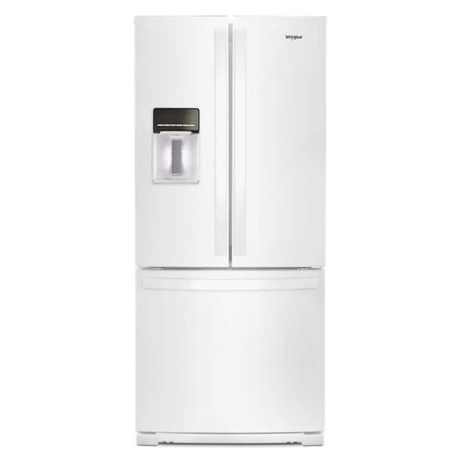 Whirlpool 19.7 cu ft french door stainless steel refrigerator