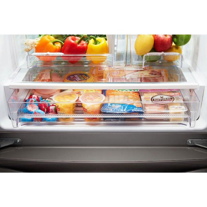 Whirlpool 19.7-cu Ft French Door Refrigerator With Ice