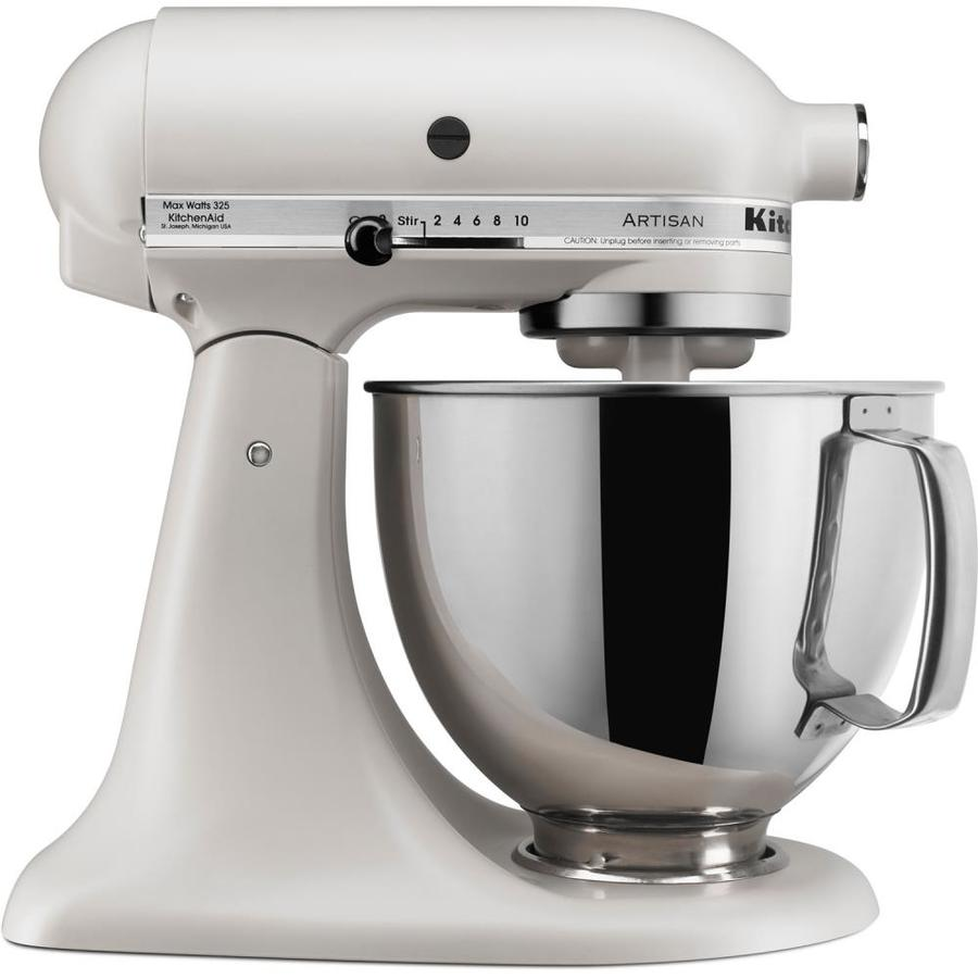 Kitchenaid Artisan 5 Quart 10 Speed Milkshake Countertop Stand Mixer At Lowes Com