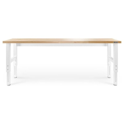 Magnificent Adjustable 96 In W X 41 In H Hardwood Work Bench Creativecarmelina Interior Chair Design Creativecarmelinacom