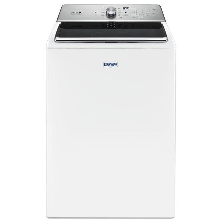 Maytag 5 2 Cu Ft High Efficiency Top Load Washer With Agitator White
