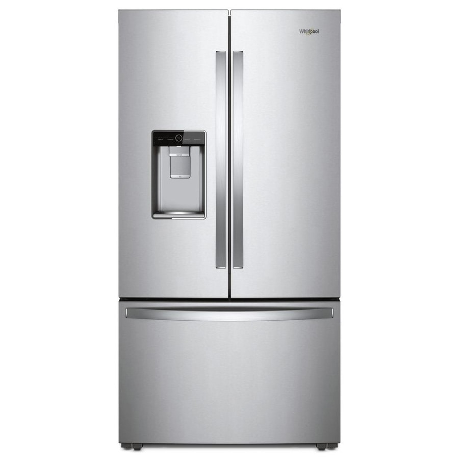 Whirlpool 23.8-cu ft Counter-Depth French Door Refrigerator with Ice Maker (Fingerprint-Resistant Stainless Steel) ENERGY STAR