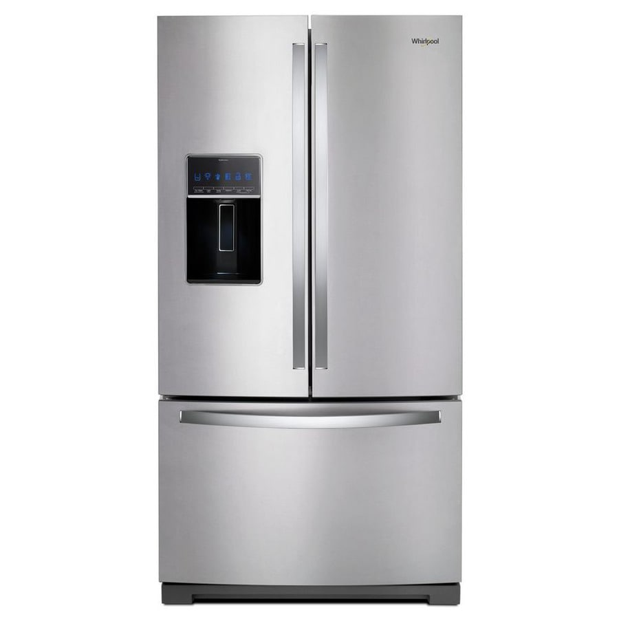 Whirlpool 26.8-cu ft French Door Refrigerator with Dual Ice Maker (Fingerprint-Resistant Stainless Steel) ENERGY STAR