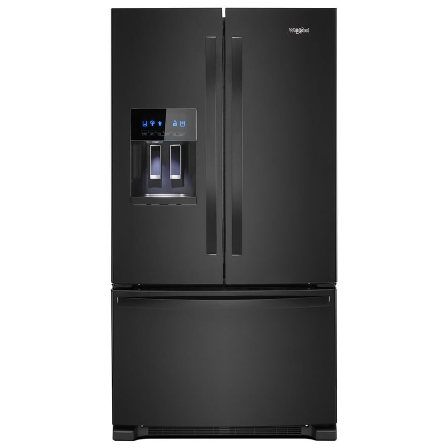 Whirlpool 24.7-cu ft French Door Refrigerator with Ice Maker (Black) ENERGY STAR