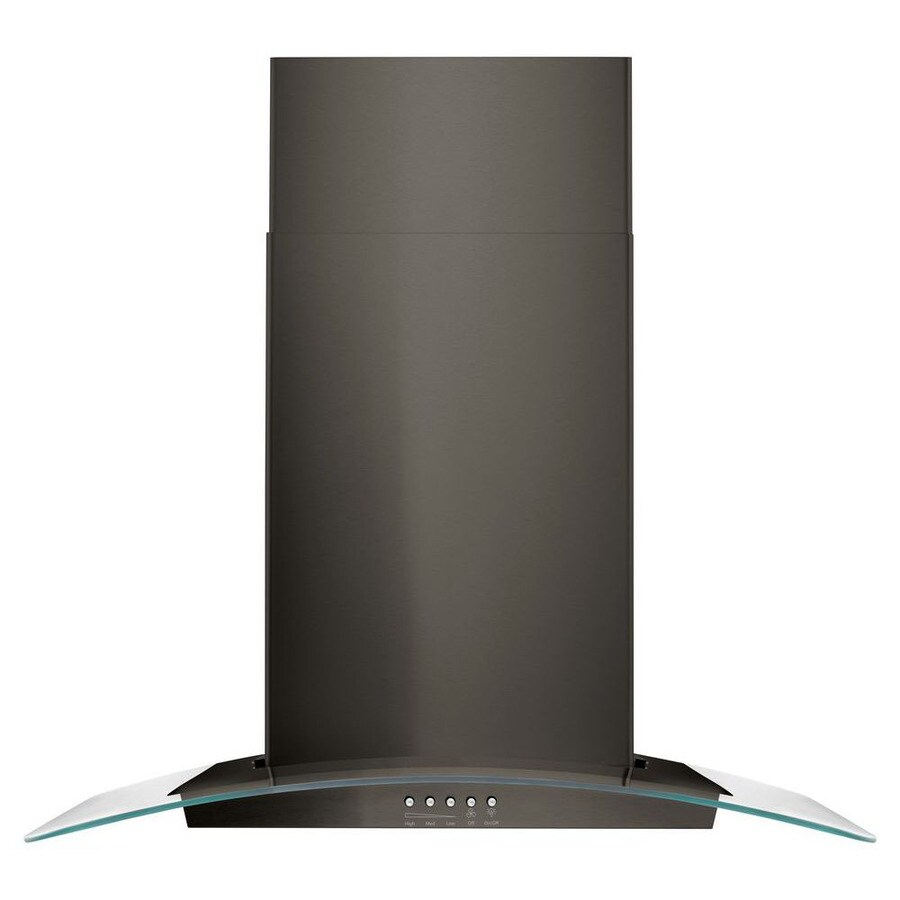 Whirlpool Convertible Wall-Mounted Range Hood (Black Stainless) (Common: 30-in; Actual: 30.0-in)
