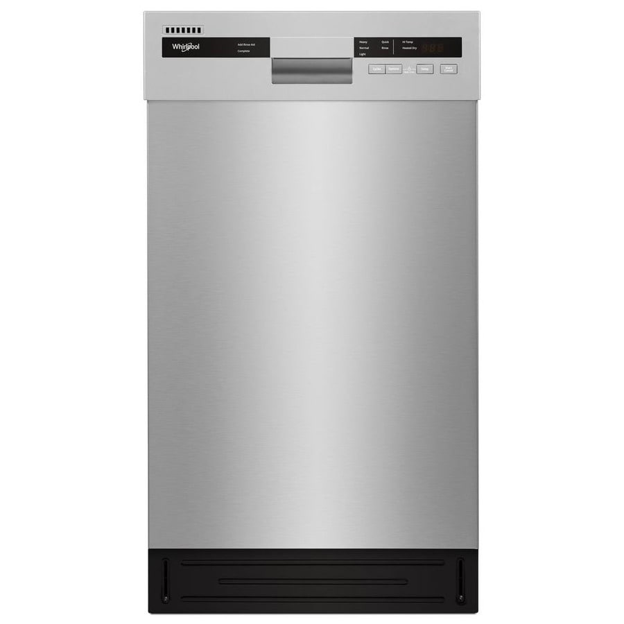 Shop whirlpool 18 in stainless steel small space compact dishwasher with stainless steel tub - Small whirlpool tub ...