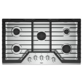 Whirlpool 36 In 5 Burner Stainless Steel Gas Cooktop Common