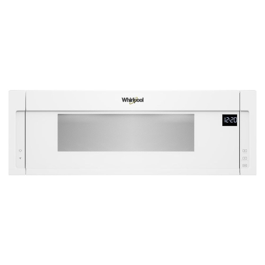 Whirlpool Low Profile 1 Cu Ft Over The Range Microwave White