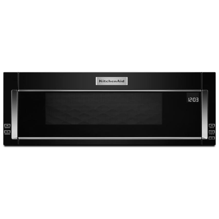 KitchenAid Low Profile 1.1 Cu Ft Over The Range Microwave With Sensor  Cooking