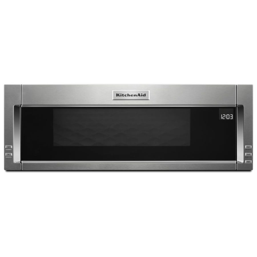 kitchenaid 1 1 cu ft over the range microwave with sensor cooking rh lowes com