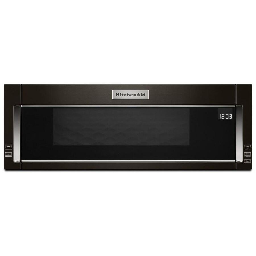 Kitchenaid 1 Cu Ft Over The Range Microwave With Sensor Cooking Fingerprint