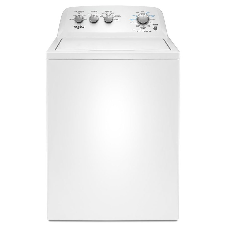 Whirlpool 3 9-cu ft High Efficiency Top-Load Washer (White) at Lowes com