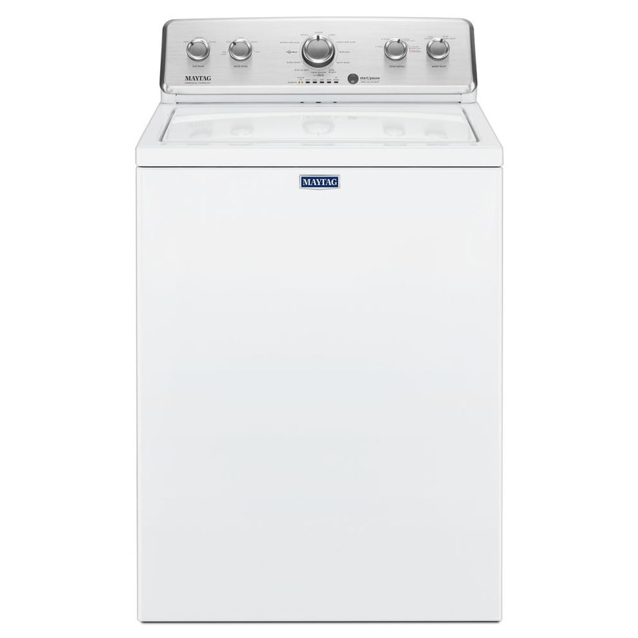 Maytag 3 8 Cu Ft Large Capacity Top Load Washer With Deep Fill Option White In The Top Load Washers Department At Lowes Com