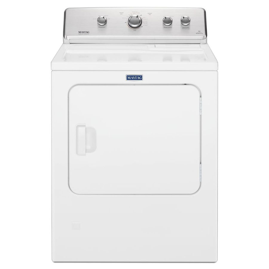 Maytag 7 Cu Ft Electric Dryer White At Lowesforpros Com