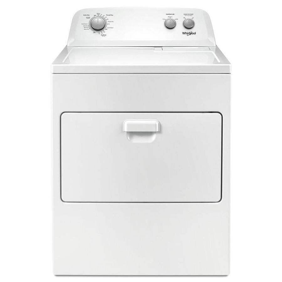 Whirlpool 7 Cu Ft Vented Gas Dryer With Autodry Drying System White In The Gas Dryers Department At Lowes Com