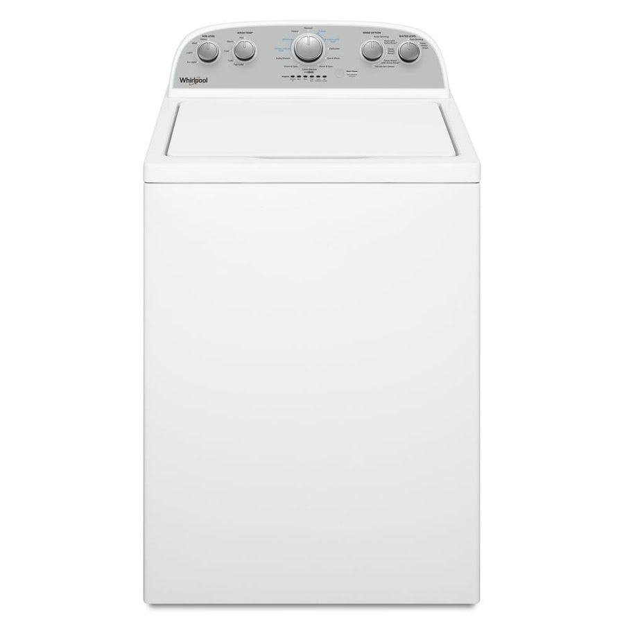 Whirlpool Washer With Agitator >> Whirlpool 3 8 Cu Ft High Efficiency Top Load Washer White At Lowes Com