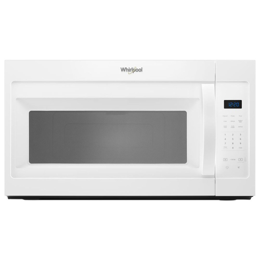 Whirlpool 1 7 Cu Ft Over The Range Microwave White Common 30 In Actual 29 938