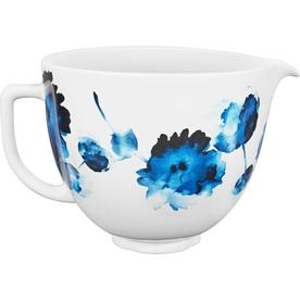 KitchenAid 5qt Patterned Ceramic Bowl - Ink Watercolor