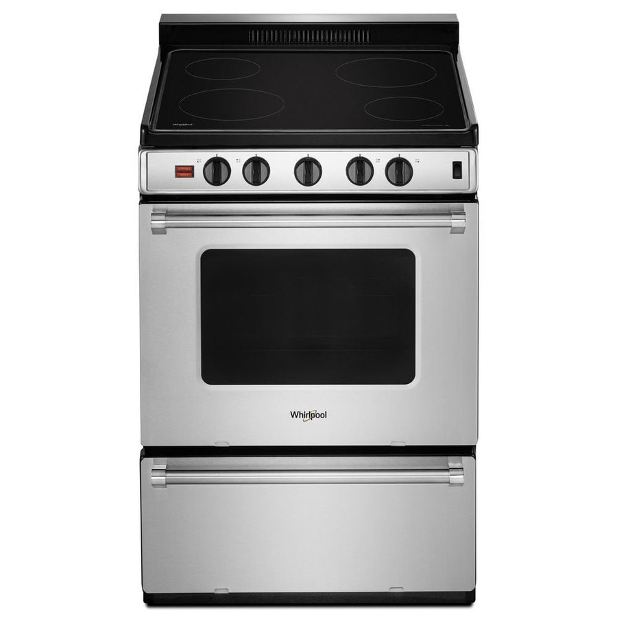 shop whirlpool smooth surface ft freestanding electric range stainless steel actual. Black Bedroom Furniture Sets. Home Design Ideas