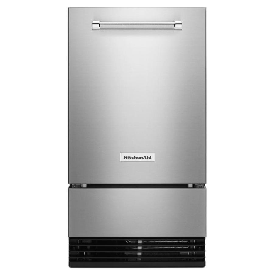 KitchenAid 29-lb Drop-down Freestanding/Built-In Ice Maker ... on