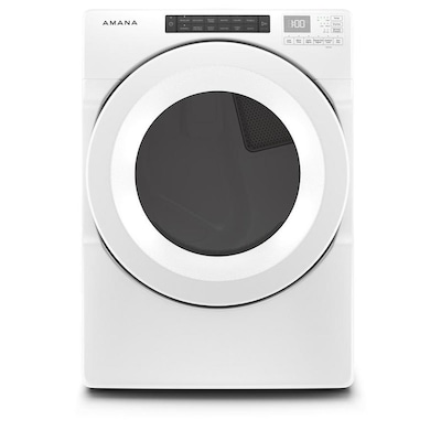 Amana 7.4-cu ft Stackable Electric Dryer (White) ENERGY STAR