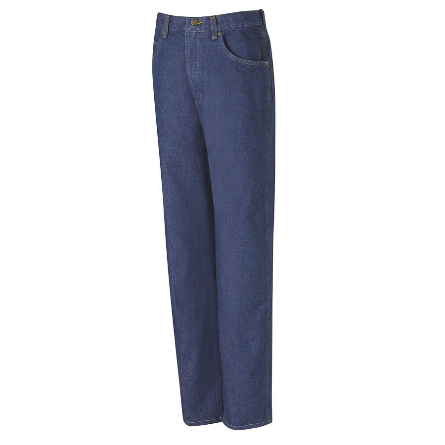 Red Kap Men's 30 x 34 Prewashed Indigo Denim Jean Work Pants