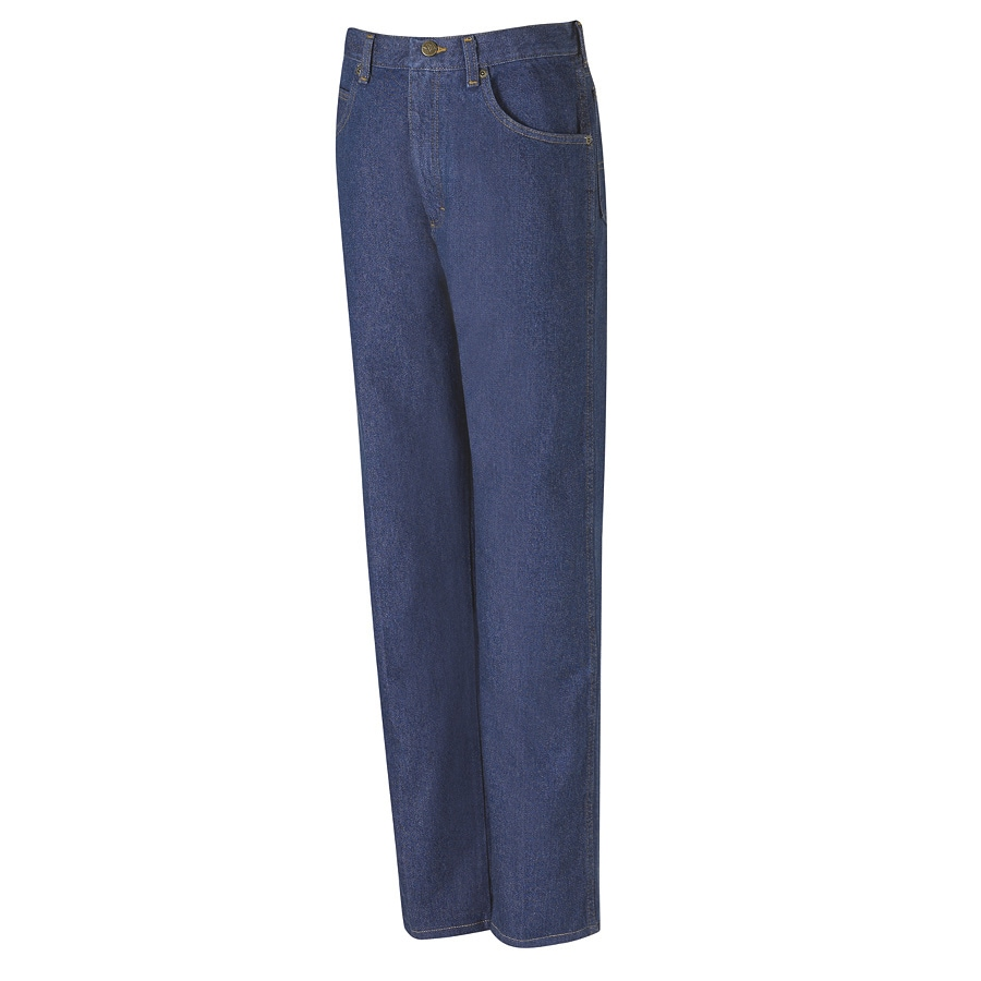 Red Kap Men's 34 x 30 Prewashed Indigo Denim Jean Work Pants