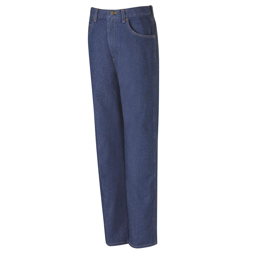 Red Kap Men's 46 x 32 Prewashed Indigo Denim Jean Work Pants