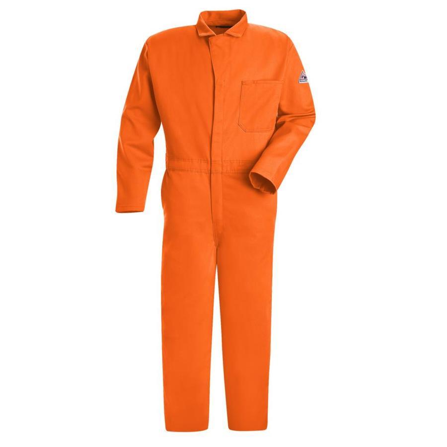 Bulwark 44 Men's Orange Long Coveralls