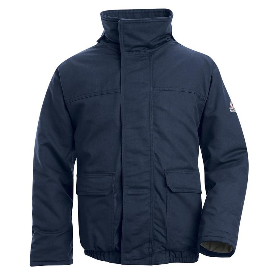 Bulwark Large Men's Navy Twill HRC 4 Bomber Jacket